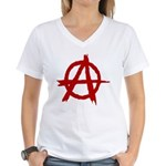 Anarchy Symbol Women's V-Neck T-Shirt