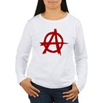 Anarchy Symbol Women's Long Sleeve T-Shirt