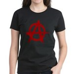 Anarchy Symbol Women's Dark T-Shirt