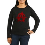 Anarchy Symbol Women's Long Sleeve Dark T-Shirt
