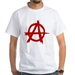 Anarchy Symbol White T-Shirt
