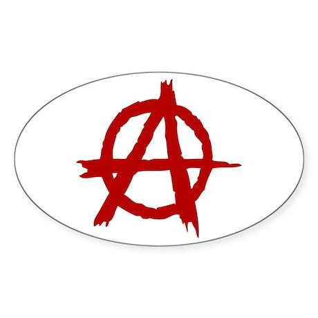 Anarchy Symbol Oval Sticker