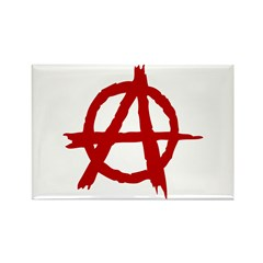 Anarchy Symbol Rectangle Magnet