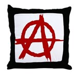 Anarchy Symbol Throw Pillow