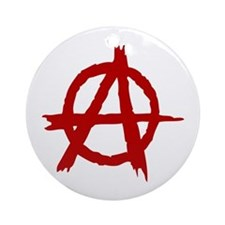 Anarchy Symbol Ornament (Round)