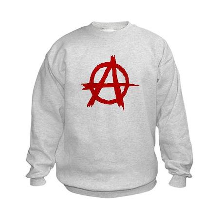 Anarchy Symbol Kids Sweatshirt