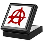 Anarchy Symbol Keepsake Box