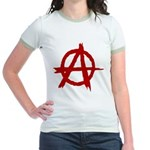 Anarchy Symbol Jr. Ringer T-Shirt