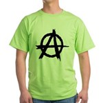 Anarchy Symbol Green T-Shirt