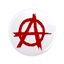 "Anarchy Symbol 3.5"" Button"
