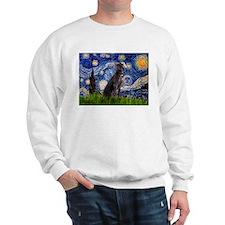 Starry Night & Weimaraner Sweatshirt