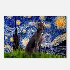 Starry Night & Weimaraner Postcards (Package of 8