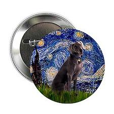 Starry Night & Weimaraner Button