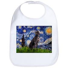 Starry Night & Weimaraner Bib