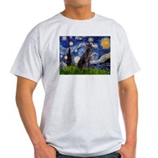 Starry Night & Weimaraner T-Shirt