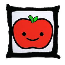 Happy Apple Throw Pillow
