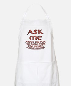 Take Over the World Joke BBQ Apron