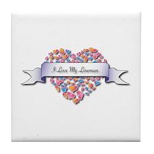 Love My Lineman Tile Coaster