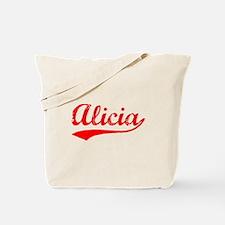 Vintage Alicia (Red) Tote Bag