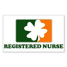 Irish REGISTERED NURSE Sticker (Rectangular)
