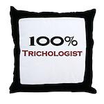 100 Percent Trichologist Throw Pillow