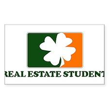 Irish REAL ESTATE STUDENT Rectangle Decal