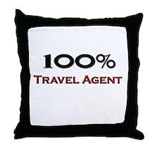 100 Percent Travel Agent Throw Pillow
