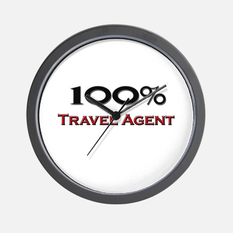 100 Percent Travel Agent Wall Clock