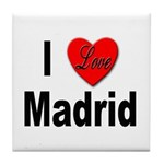 I Love Madrid Spain Tile Coaster