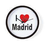 I Love Madrid Spain Wall Clock