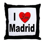 I Love Madrid Spain Throw Pillow