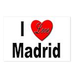 I Love Madrid Spain Postcards (Package of 8)