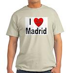 I Love Madrid Spain (Front) Ash Grey T-Shirt