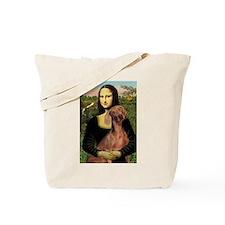 Mona Lisa (new) Weimaraner Tote Bag