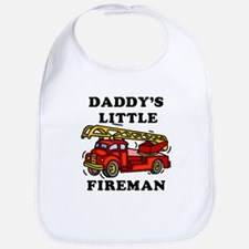 Daddy's Little Fireman - Bib