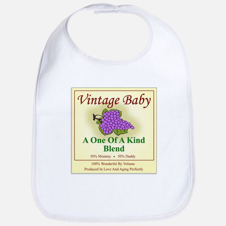 Vintage Baby Wine Label - Bib
