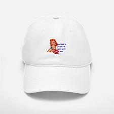 Be Nice Redhead Pinup T-Shirt Baseball Baseball Cap