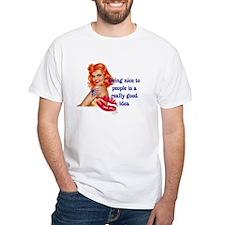 Be Nice Redhead Pinup T-Shirt Shirt