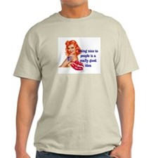 Be Nice Redhead Pinup T-Shirt T-Shirt