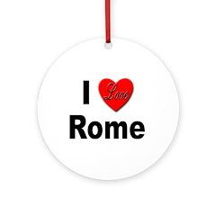 I Love Rome Italy Keepsake (Round)