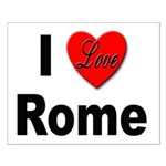 I Love Rome Italy Small Poster