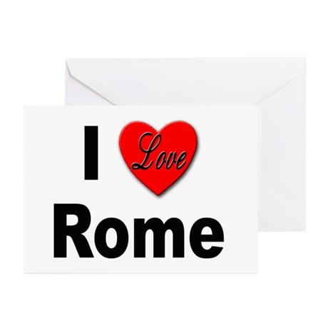 I Love Rome Italy Greeting Cards (Pk of 10)