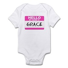 Hello My Name Is Grace - Infant Creeper