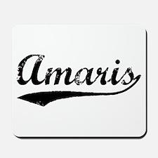 Vintage Amaris (Black) Mousepad