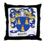 Klocke Family Crest Throw Pillow