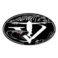 Tyger Vinum Logo (black) Oval Decal