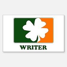 Irish WRITER Rectangle Decal