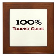 100 Percent Tourist Guide Framed Tile