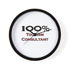 100 Percent Tourism Consultant Wall Clock