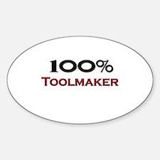 100 Percent Toolmaker Oval Decal